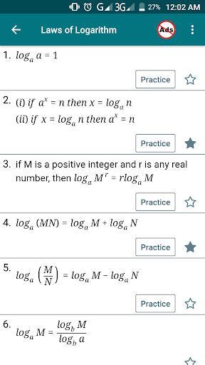 Math Formula with Practice - عکس برنامه موبایلی اندروید