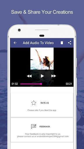 Add Audio to Video : Audio Video Mixer - عکس برنامه موبایلی اندروید