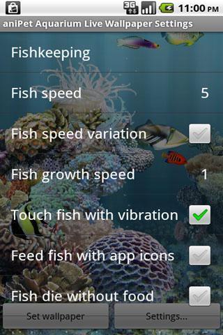 aniPet Aquarium LiveWallpaper - عکس برنامه موبایلی اندروید