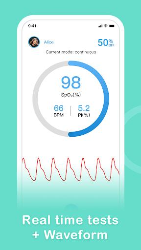 Finger Oximeter-SpO2 - عکس برنامه موبایلی اندروید