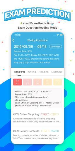 PTE Exam Practice - APEUni - عکس برنامه موبایلی اندروید