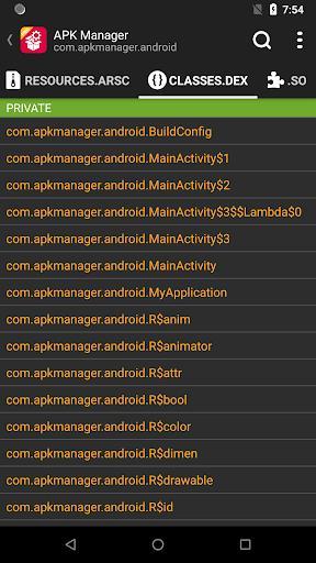 APK Analyzer - عکس برنامه موبایلی اندروید