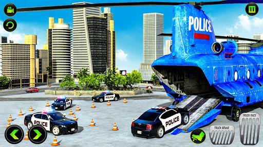 US Police CyberTruck Car Transporter: Cruise Ship - عکس برنامه موبایلی اندروید