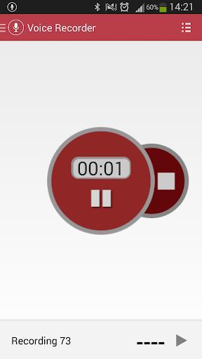 Voice Recorder - عکس برنامه موبایلی اندروید
