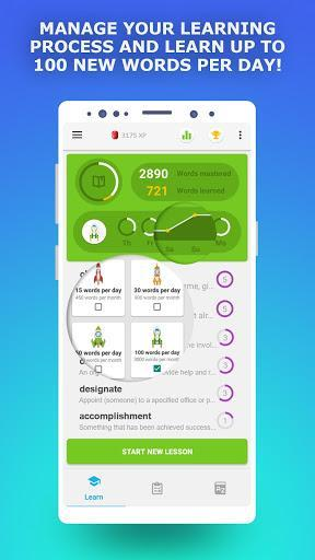 IELTS preparation app. English Vocabulary Builder - عکس برنامه موبایلی اندروید