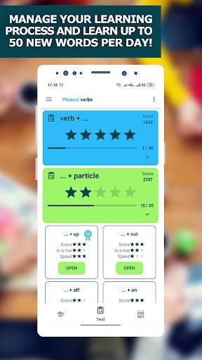 Learn English Phrasal Verbs. Vocabulary Builder - عکس برنامه موبایلی اندروید