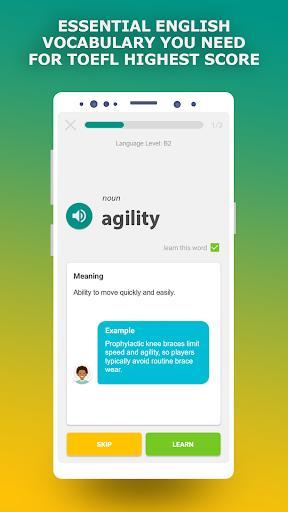 TOEFL preparation app. English Vocabulary Builder - عکس برنامه موبایلی اندروید