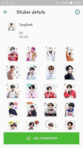 BTS WAStickerApps KPOP Idol for Whatsapp - عکس برنامه موبایلی اندروید