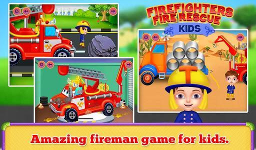 Firefighters Fire Rescue Kids - Fun Games for Kids - عکس بازی موبایلی اندروید