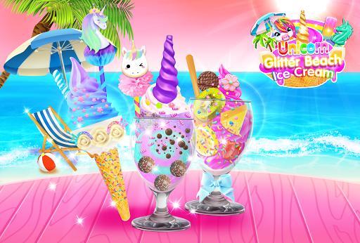 Rainbow Unicorn Glitter Ice Cream - Cooking Games - عکس برنامه موبایلی اندروید