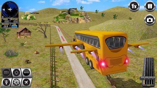 Flying Bus Driving simulator 2019: Free Bus Games - عکس بازی موبایلی اندروید
