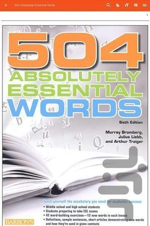 504 واژه ضروری انگلیسی - پیشرفته - عکس برنامه موبایلی اندروید