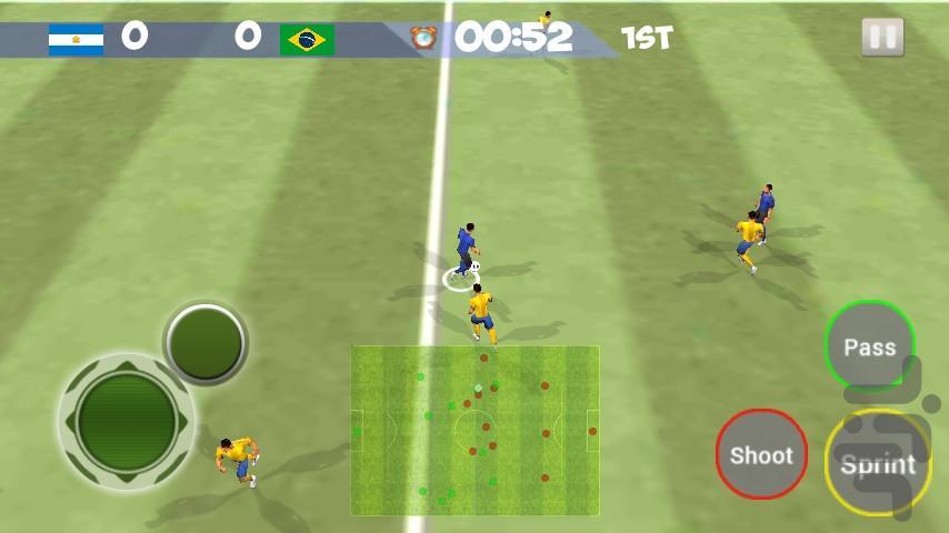 فوتبال واقعی 2018 سه بعدی - عکس بازی موبایلی اندروید