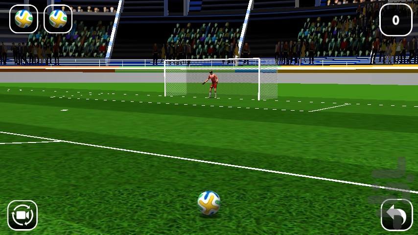 فوتبال ضربه آزاد - عکس بازی موبایلی اندروید