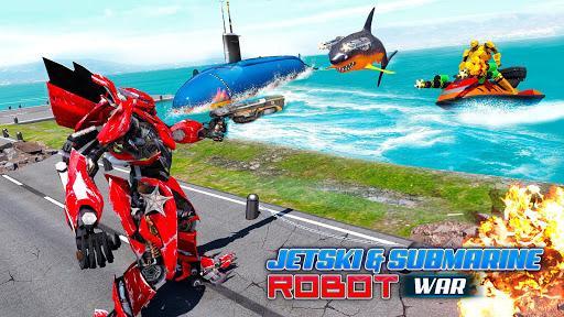 Jet Ski Robot Game: Submarine Robot Transformation - عکس برنامه موبایلی اندروید