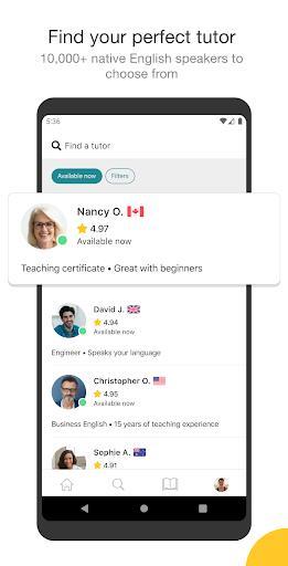 Cambly - English Teacher - عکس برنامه موبایلی اندروید