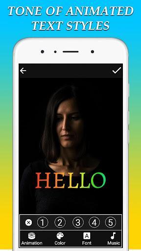 Animated Text On Video - عکس برنامه موبایلی اندروید