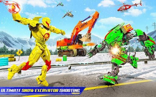 Snow Excavator Robot Deer Robot Car Game - عکس برنامه موبایلی اندروید