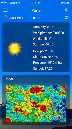 هواشناسی - Weather forecast - عکس برنامه موبایلی اندروید