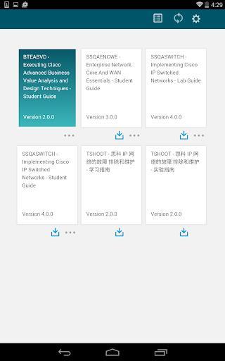 Cisco eReader - عکس برنامه موبایلی اندروید