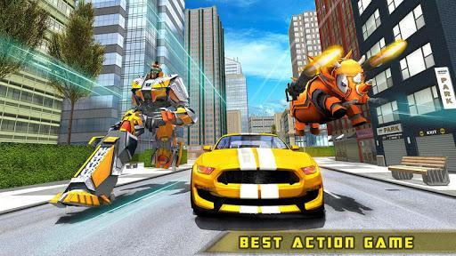 Rhino Robot Car transforming games – City battle - عکس برنامه موبایلی اندروید