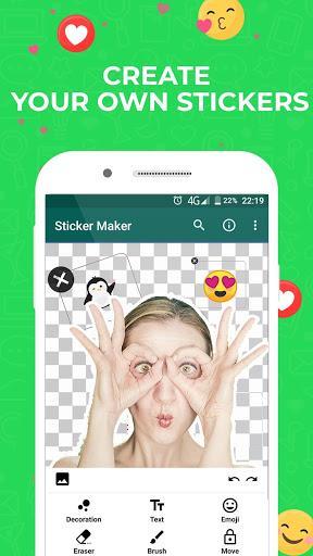 Sticker Maker for WhatsApp - عکس برنامه موبایلی اندروید