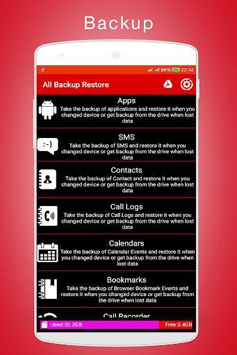 All Backup Restore - عکس برنامه موبایلی اندروید
