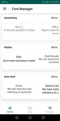 Font Manager for Huawei / Honor / EMUI - عکس برنامه موبایلی اندروید
