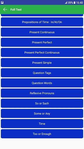 English Grammar And Test - عکس برنامه موبایلی اندروید