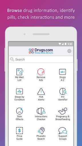 Drugs.com Medication Guide - عکس برنامه موبایلی اندروید