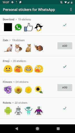استیکر واتساپ - Personal stickers for WhatsApp - عکس برنامه موبایلی اندروید