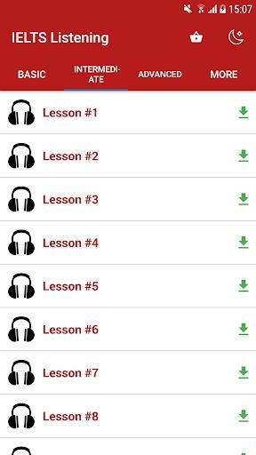 IELTS Listening - عکس برنامه موبایلی اندروید