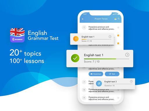 Egrammar - learn english grammar - عکس برنامه موبایلی اندروید
