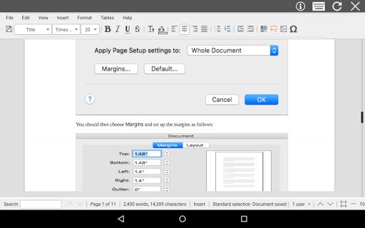 AndroDOC editor for Doc & Word - عکس برنامه موبایلی اندروید