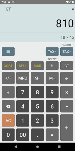 Simple Calculator Free - عکس برنامه موبایلی اندروید