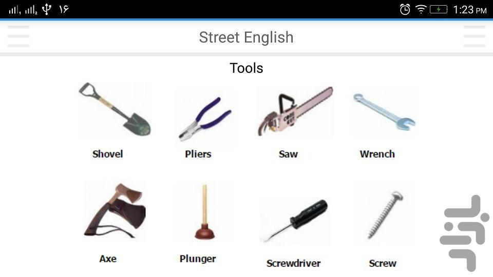 اصطلاحات عامیانه انگلیسی - عکس برنامه موبایلی اندروید