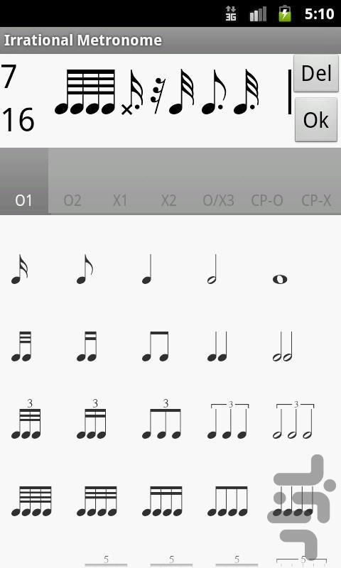 Irrational Metronome 2.0 - Image screenshot of android app