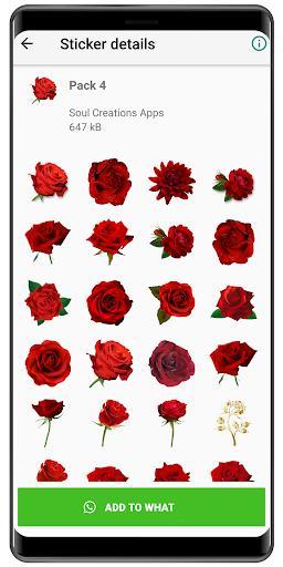 Roses Stickers – استیکر عاشقانه - عکس برنامه موبایلی اندروید