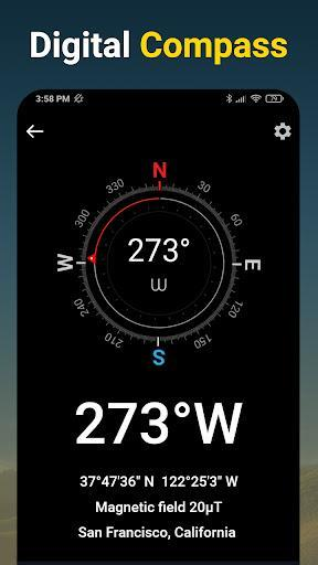 Compass - Accurate & Digital Compass for Android - عکس برنامه موبایلی اندروید