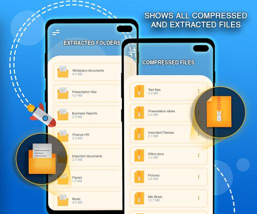 Rar File Extractor for android: Zip File Opener - عکس برنامه موبایلی اندروید