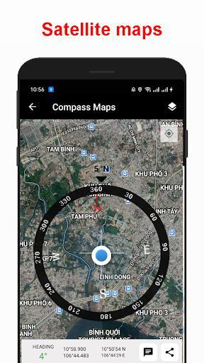 Compass & Map - عکس برنامه موبایلی اندروید