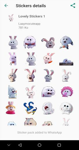 Cute Snowball Stickers WAStickerApps - عکس برنامه موبایلی اندروید