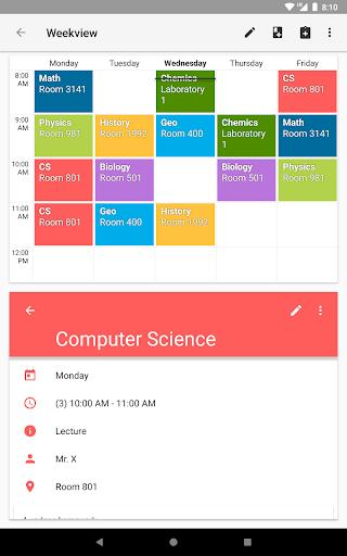 Timetable - Image screenshot of android app