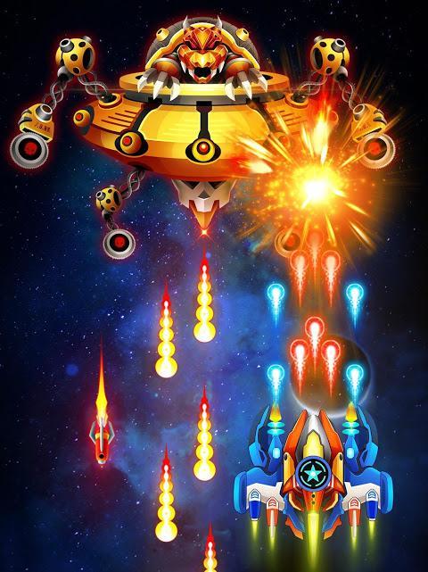 Space shooter - Galaxy attack - Galaxy shooter - جنگنده فضایی - حمله به کهکشان - عکس بازی موبایلی اندروید