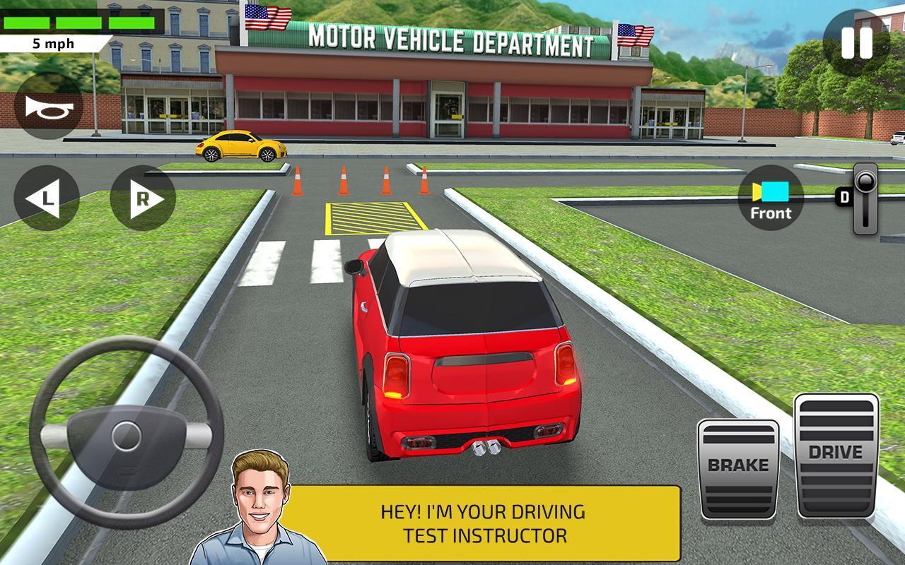 City Car Driving & Parking School Test Simulator – آموزش رانندگی در شهر - عکس بازی موبایلی اندروید