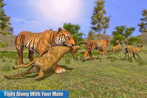 Tiger Family Simulator: Jungle Hunting Games - عکس بازی موبایلی اندروید
