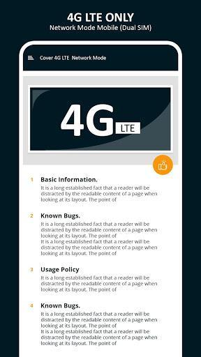 4G LTE Only - 4g LTE Mode - عکس برنامه موبایلی اندروید
