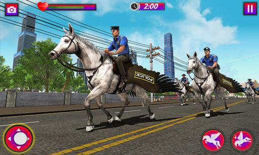 Flying Horse Police Chase : US Police Horse Games - عکس برنامه موبایلی اندروید