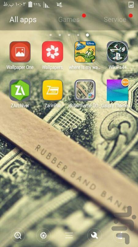 تم گو لانچر دلار Go Luncher - عکس برنامه موبایلی اندروید