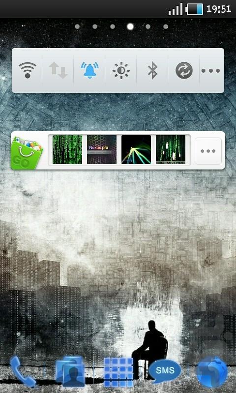 تم آبی درخشان Go Launcher & Locker - عکس برنامه موبایلی اندروید